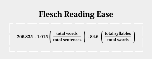 The Flesch Reading Ease and Flesch-Kincaid Grade Level