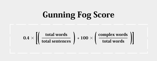 The Gunning Fog Index