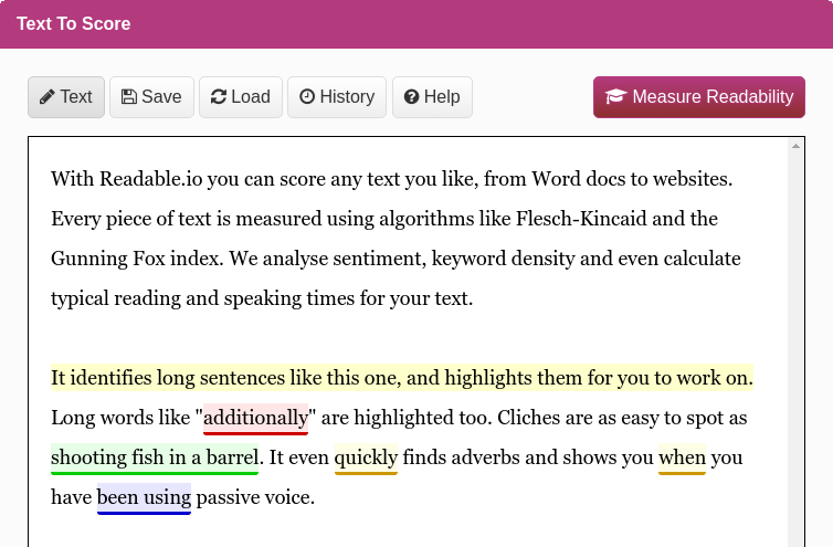 measure text readability readability and keyword density  check your readability