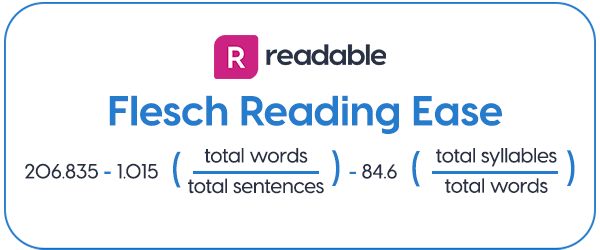 Flesch Reading Ease | Readable, free readability test