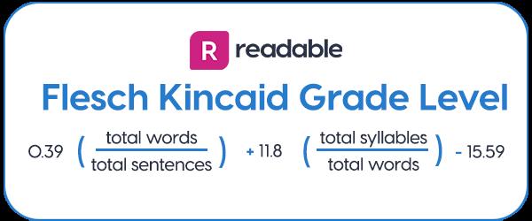 Flesch Kincaid Grade Level | Readable, free readability test