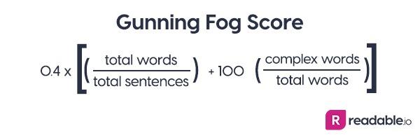 Gunning Fog Score