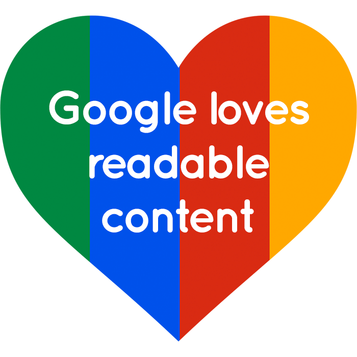 Google loves readable content