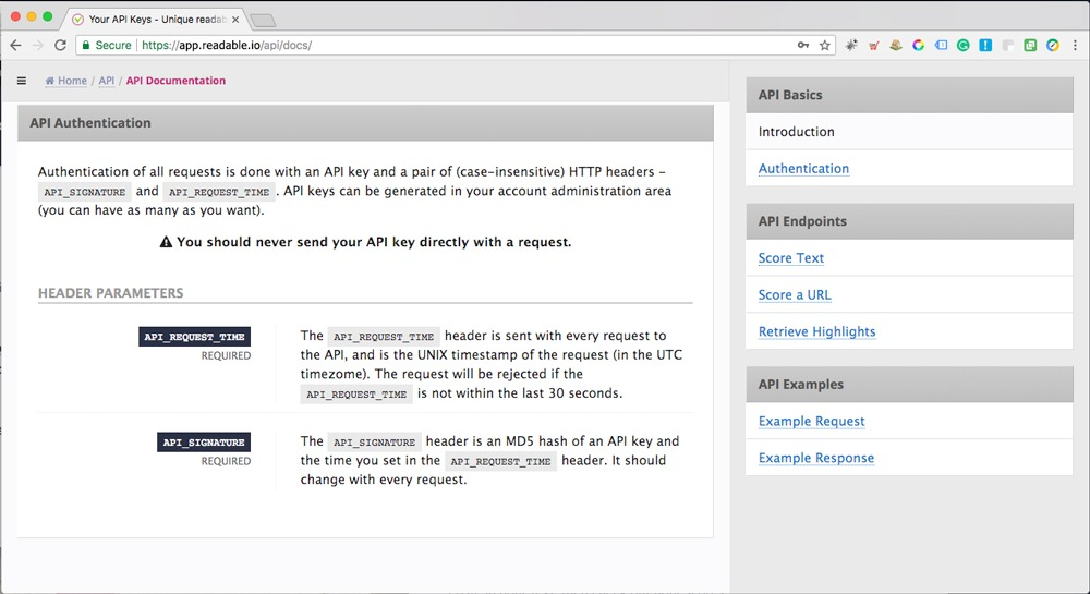 ReadablePro - API