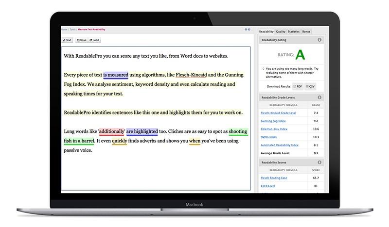 ReadablePro on a MacBook