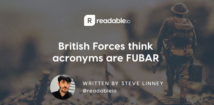 British Forces Think Acronyms Are FUBAR Readable