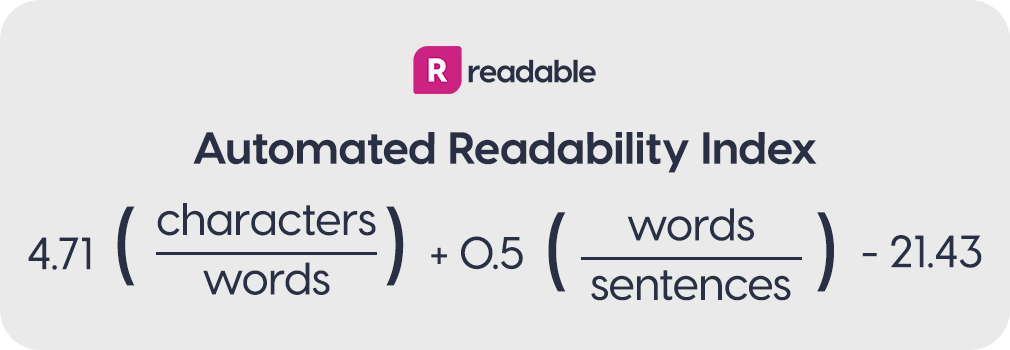 Automated Readability Index formula