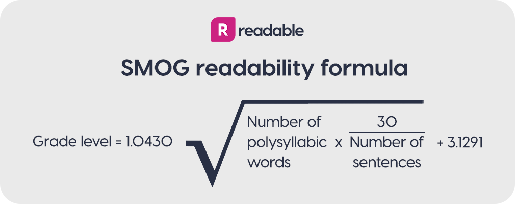 SMOG Index readability formula