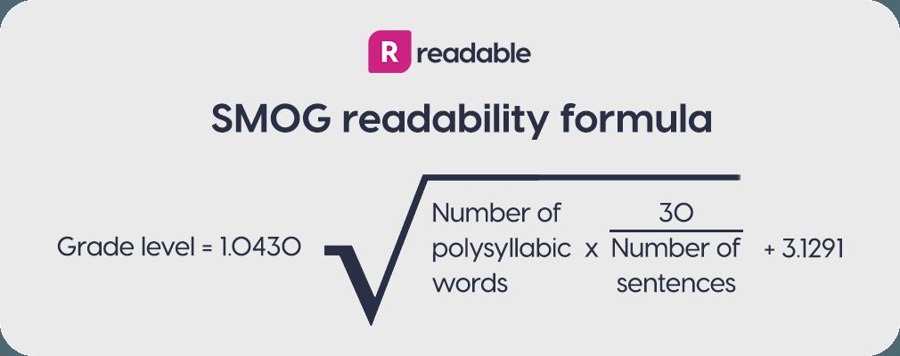 SMOG Index readability formula