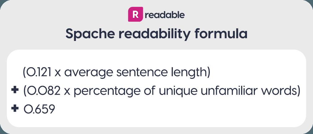 Spache readability formula