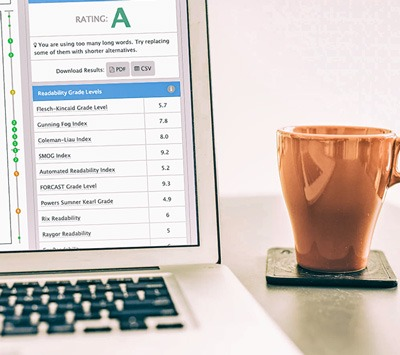 ReadablePro screenshot - text tool | Readability score and web analytics