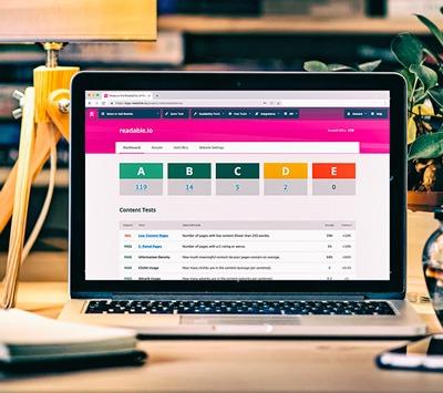 ReadablePro's website analytics dashboard | Readability score and web analytics