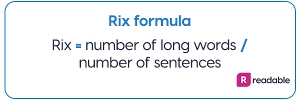 Rix readability formula | Readable, free readability test