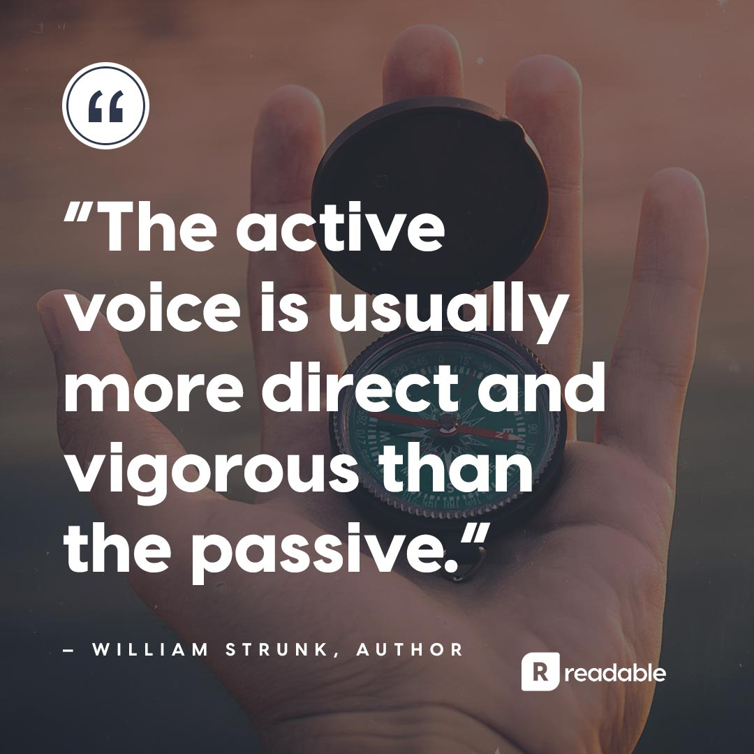 Passive voice quote | Readable, free readability test