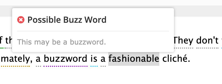 Buzzword detector | Readable, free readability test