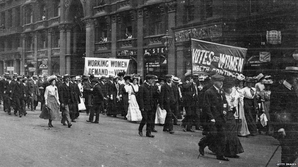 Working women demand the vote