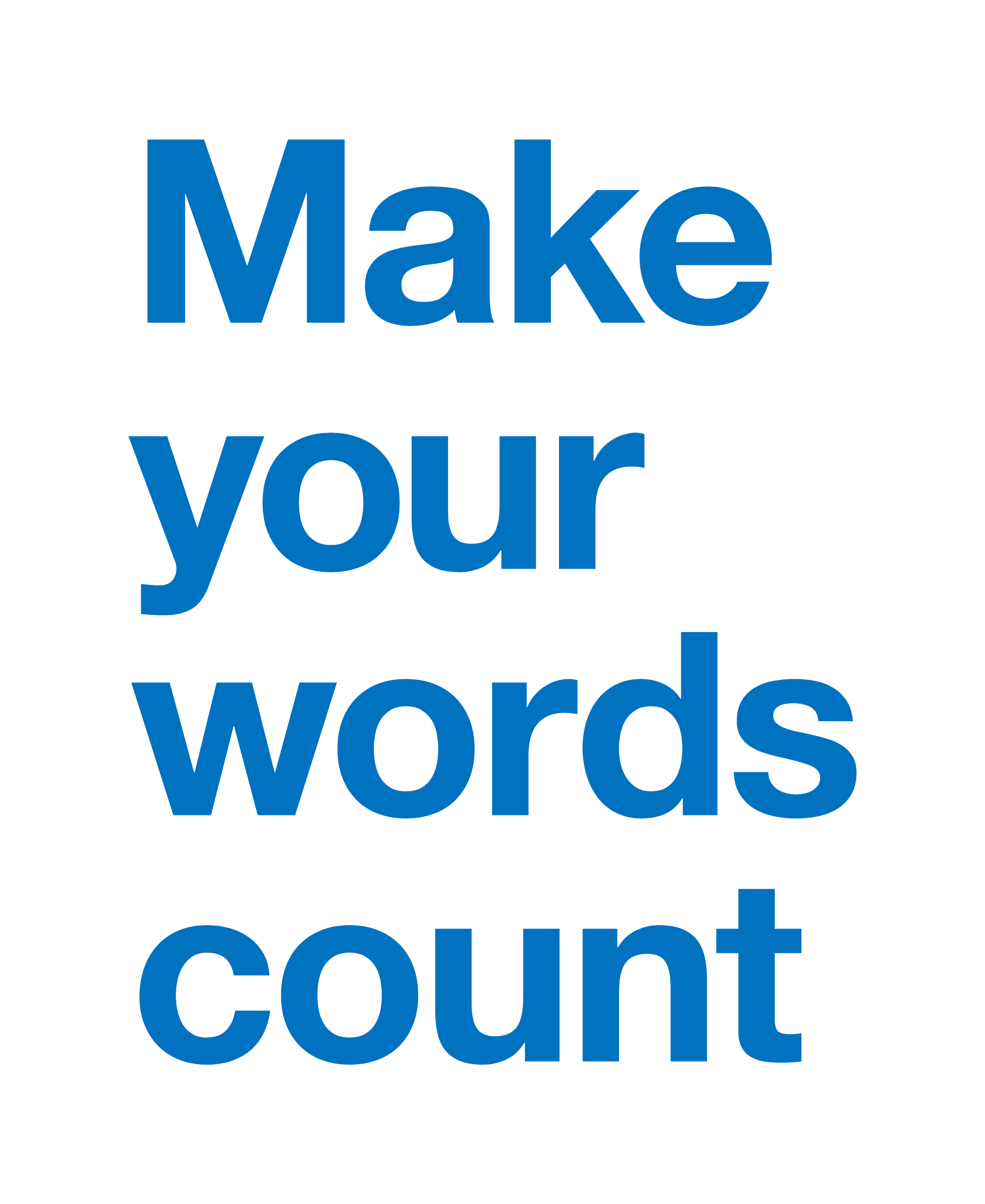 govdesign 'make your words count' poster | UK Government Design team